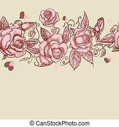 Rosas vintágenes sin mancha