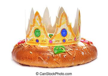 roscon, de, tres, español, pastel, reyes, reyes