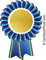 Rosette de premio azul