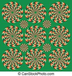 rotación, perpetuo, ilusión