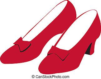 rubí, shoes, rojo