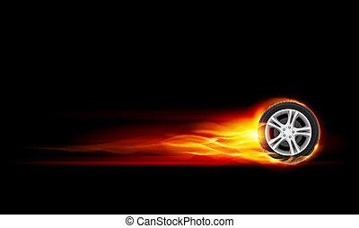 rueda, abrasador