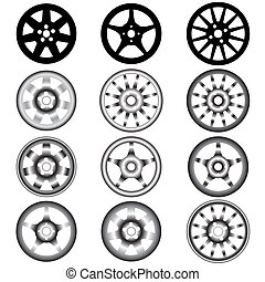 Rueda automotriz con ruedas de aleación