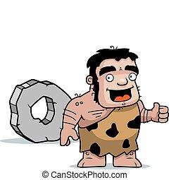 rueda, cavernícola