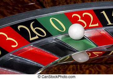 Rueda clásica del casino con sector cero