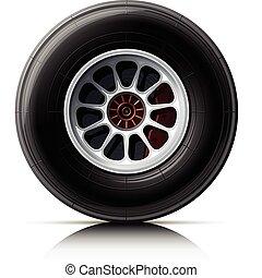 rueda, coche, deportes