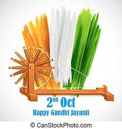 Rueda giratoria para Gandhi Jayanti