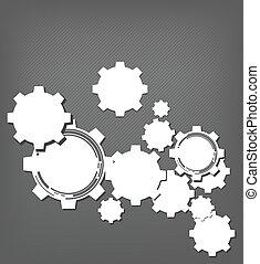 rueda, tecnología, engranaje, plano de fondo