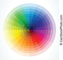 Ruedas de color. Ilustración del vector