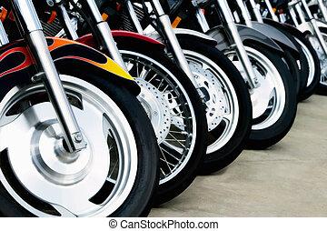 ruedas, motocicleta, bits: