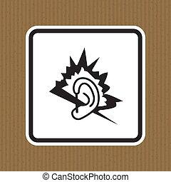 ruido, plano de fondo, aislar, ilustración, blanco, símbolo, señal