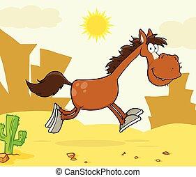 Ruidoso personaje de caballo corriendo