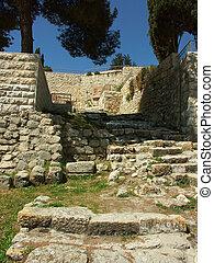 ruinas antiguas en Jerusalén