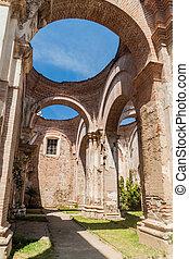 Ruinas de la catedral de Santiago en Antigua Guatema