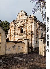 Ruinas de la iglesia de Santa Rosa en Antigua Guatemala, guatemal