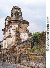 ruinas, iglesia, carmen, el, antigua, -, guatemala