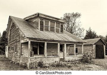 ruinoso, casa, abandonado