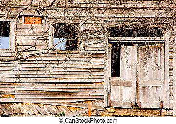ruinoso, edificio, viejo
