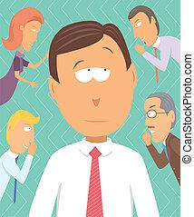 rumores, empresa / negocio, sólo, consejeros, chisme, o