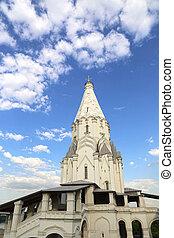 rusia, ascensión, iglesia, parque, moscú, kolomenskoye