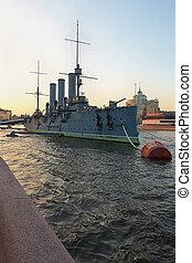 ruso, aurora, crucero