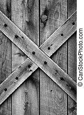 Rustic granero puerta (BW)
