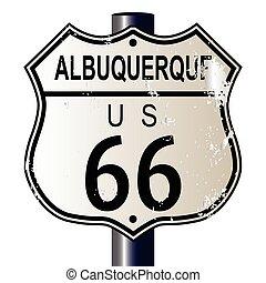 ruta, albuquerque, 66, señal