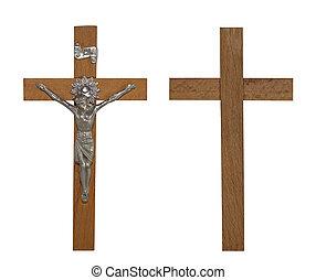ruta de recorte, crucifijo
