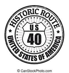 Ruta histórica 40 sello