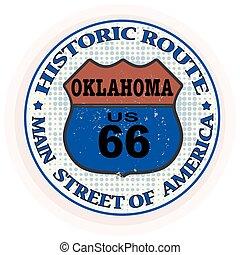 Ruta histórica de oklahoma sello