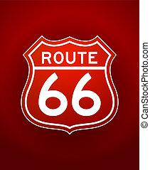 Ruta roja 66 silueta