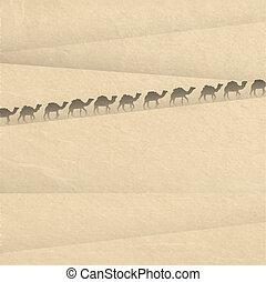Sáhara con siluetas de cámara