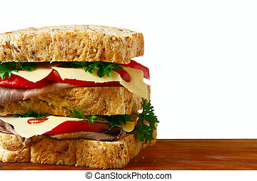 Sándwich de carne asada