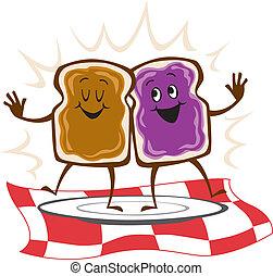 Sándwich de mermelada de maní