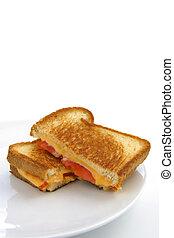 Sándwich de queso y tomate