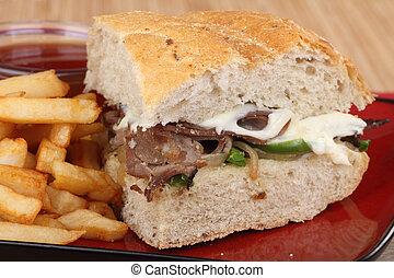 Sándwich de ternera asada