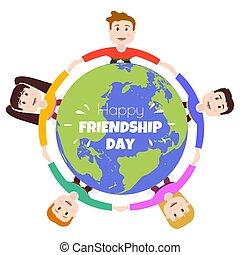 símbolo, amistad, amigos, día