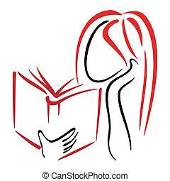símbolo, biblioteca