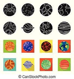 símbolo, cosmos, galaxia, acción, colección, objeto, símbolo., aislado, órbita, web.