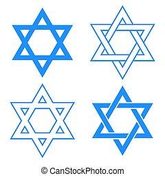 símbolo, david, estrella
