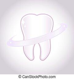 Símbolo de dientes sanos y brillantes