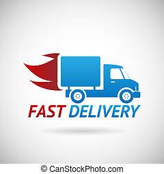 Símbolo de entrega rápida silueta de diseño de iconos de camiones silueta ilustración vectorial