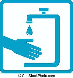 Símbolo de higiene con la mano