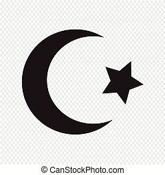 Símbolo de icono estrella del Islam