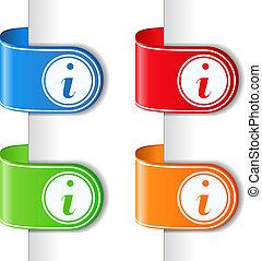 símbolo de información, cintas