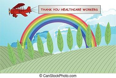 símbolo del arco iris, apoyo