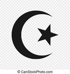 Símbolo del Islam aislado