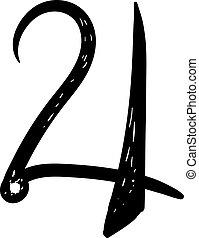 símbolo, fondo., blanco, júpiter, vector, ilustración