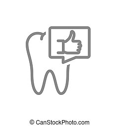 símbolo, forme fila, discurso, icon., oral, pulgar, diente, cavidad, burbuja, órgano, sano