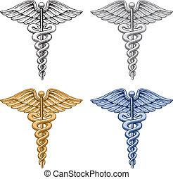 símbolo médico, caduceo